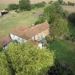 Aerial view of Old Plough House/Plough Cottage