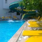Pool and slide