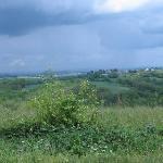Vue de Pampelonne avant l'orage