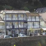view of Riverside Cottage from across the river