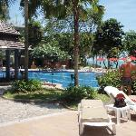 Pool area around the original Cosy Beach
