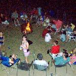 Campfire with friends and family, firepits are available to rent for the week