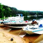 Boats that guests bring up to the resort with them