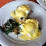 La Folie's delicious Eggs Benedict