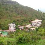 View of the resort from a near by hillock
