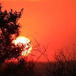 Sonnenuntergang von der Farm