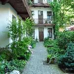 The beautiful backyard entrance