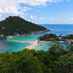Koh Nang Yuan from the view point on our snorkeling tour