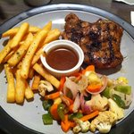 chicken chop with black pepper sauce (not the actual name)