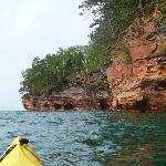 Approaching the sea caves.
