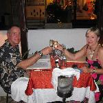 Jeff & Renee Dining in Paradise