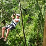 We got a great deal on zip-lining too, thanks to Robert!