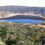 View of the crater