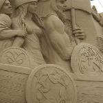 Detail of the Viking Longboat sculpture