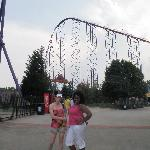 Superman: Ride of Steel. Really fun roller coaster. SUPER HIGH first hill! It seemed a LOT highe