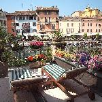 Hotel terrace.
