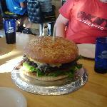humongous burger to share!!!!