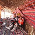tenda beduina nel deserto