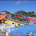 Half of the aqua park