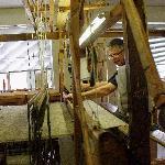 hand-weaver at work