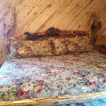 Hand made headboard and foot board, Very comfy bed.