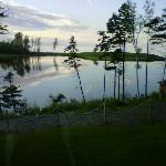 Evening view from cottage at Pictou Lodge