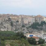 View of Tropea from the hotel roof top solarium.