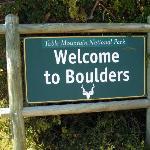 boulders beach sign
