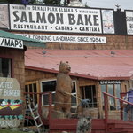 Exterior of the Salmon Bake