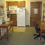 Kitchenette and desk in my One Bedroom Suite