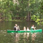 Canoe up river