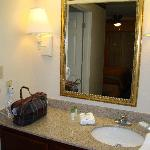 Vanity area outside the bathroom