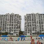 Hampton Inn from the beach