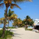 View of buffet restaurant from beach