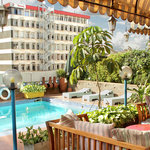 Our 4th floor swimming pool, stunning views of central Nairobi