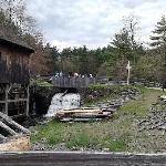 Water powering the sawmill