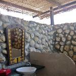 Open-air bathroom