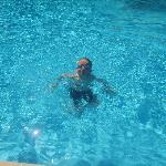 Jake in the pool!