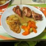 The yummy Chicken stuffed with mushroom, carrots, rosemary ... a blast
