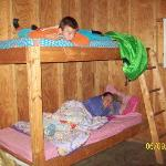 The bunk beds!