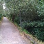 Quiet path from the Villa into Sant'Agata