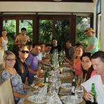 Eating Luz's yummy food inside the Villa. Lots of happy faces and happy bellies :)