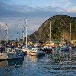 Ilfracombe harbour at sunset