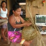 Local Emberas making handicraft