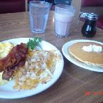 The Lumberjack with Scrambled eggs and Pankcakes!!!! Delish!!!!