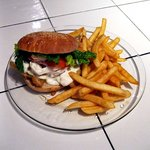 Fish Sandwich w/homemade tartar sauce