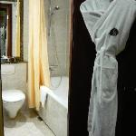 Bath robe is provided