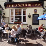Lunch outside the Anchor Inn, Sidmouth, June 2011
