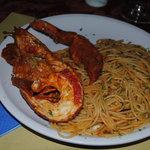 Lobster pasta €12