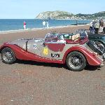 Car Rally ending in Llandudno